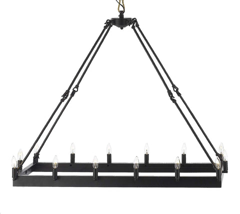 "Wrought Iron Vintage Barn Metal Castile Chandelier Chandeliers Industrial Loft Rustic Lighting H 35"" X W 14""- G7-3429/14"
