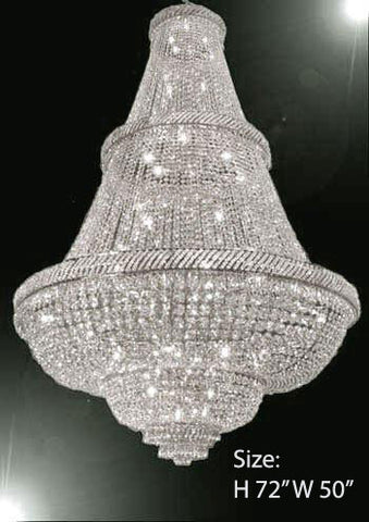 Foyer large chandeliers page 4 gallery chandeliers french empire crystal chandelier lighting w swarovski crystal 6ft tall perfect for an entryway aloadofball Image collections