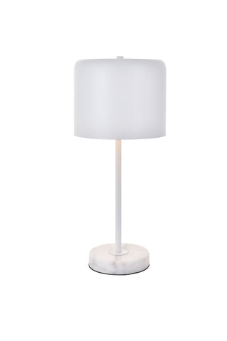 ZC121-LD4075T10WH - Living District: Exemplar 1 light white Table lamp