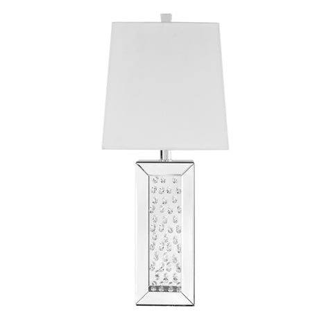 ZC121-ML9310 - Regency Decor: Sparkle Collection 1-Light Silver Finish Table Lamp
