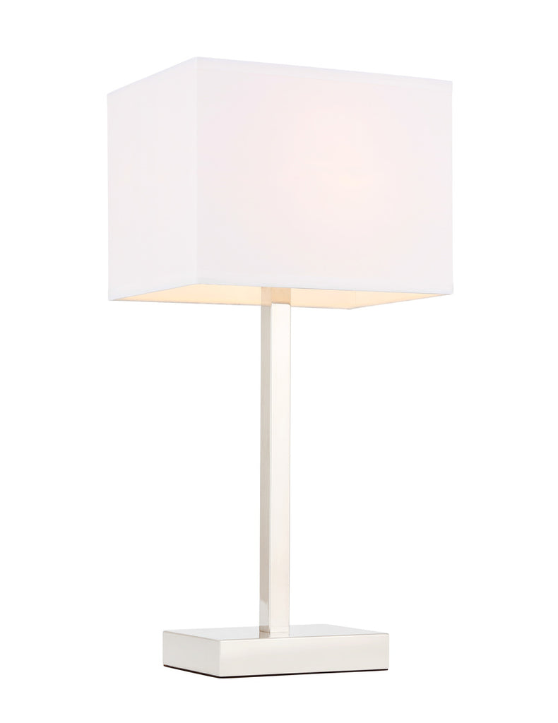 ZC121-TL3042PN - Regency Decor: Katherina 1 light Polished Nickel Table Lamp