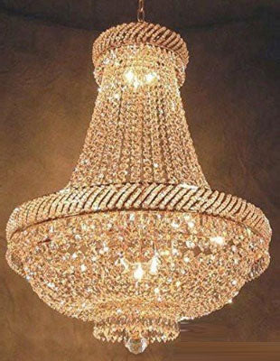 "French Empire Crystal Chandelier Lighting H26"" X W23"" - F93-448/9"