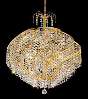 C121-GOLD/8052/2625 Spiral CollectionEmpire Style CHANDELIER Chandeliers, Crystal Chandelier, Crystal Chandeliers, Lighting