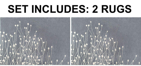 Set of 2 - Floral Hand-Tufted Transitional Contemporary Wool Rug Area Rug 8 X 10 - 2EA J10-IN-201-8X10
