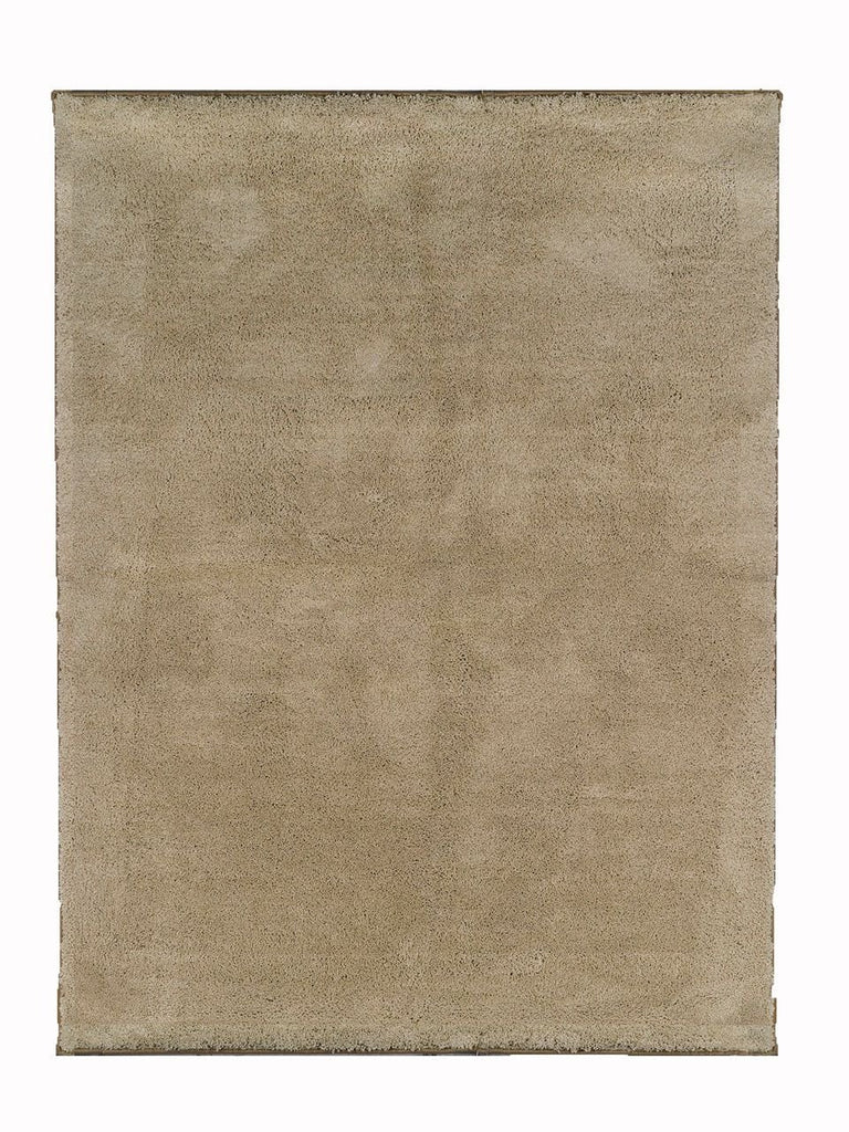 Shag Rug California Cozy Soft Area Rug Beige Tan 5X7 Living Room, Dining Room, Foyer ,Bedroom Rug - J10-200-5X7