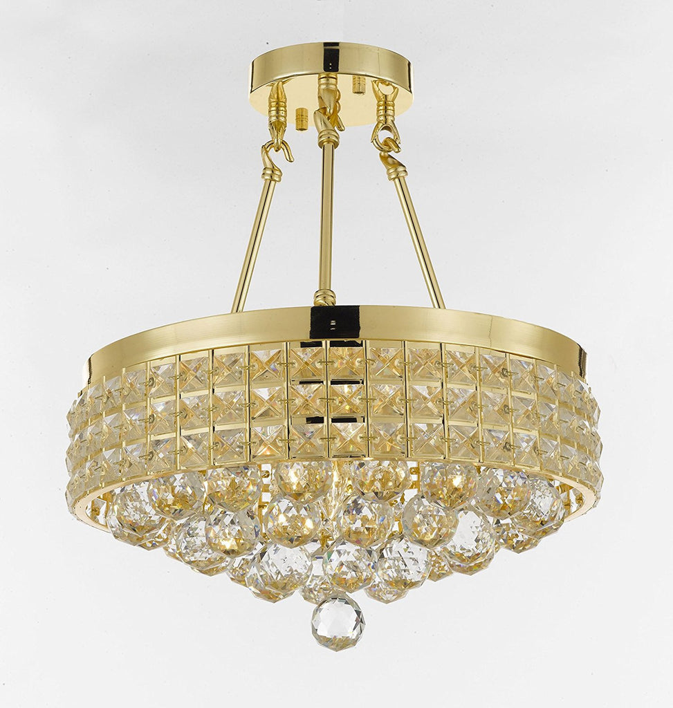 Semi flush mount french empire crystal ball chandelier chandeliers semi flush mount french empire crystal ball chandelier chandeliers lighting ht 17 x wd 15 4 mozeypictures Image collections