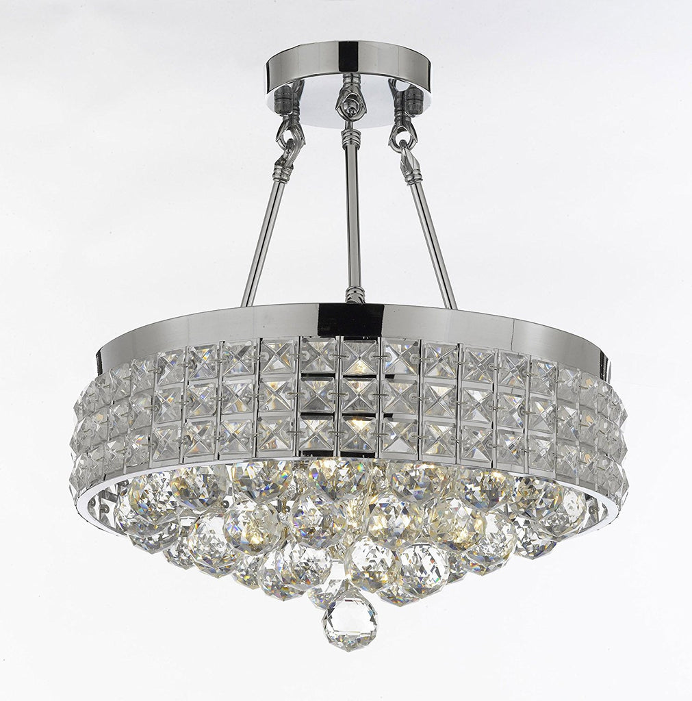 Semi flush mount french empire crystal ball chandelier chandeliers semi flush mount french empire crystal ball chandelier chandeliers lighting ht 17 x wd 15 4 aloadofball Images