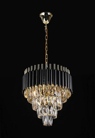 "Retro Palladium Empress Crystal (Tm) Glass Fringe 4 Tier Chandelier Lighting W 19.7"" x H 18.9"" - Great for Entryway/Foyer, Living Room, Family Room, and More! Limited Edition ! - G7-76211/8"