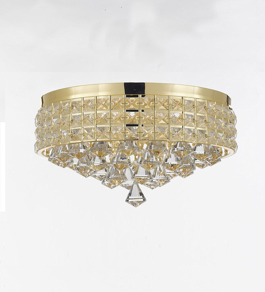 Flush Mount French Empire Crystal Chandelier Chandeliers