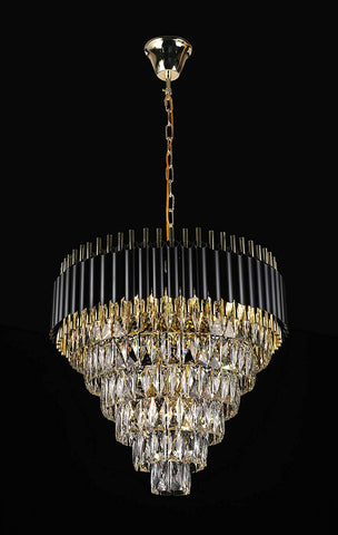 "Retro Palladium Empress Crystal (Tm) Glass Fringe 6 Tier Chandelier Lighting W 23.6"" x H 20.8"" - Great for Entryway/Foyer, Living Room, Family Room, and More! Limited Edition ! - G7-76211/11"