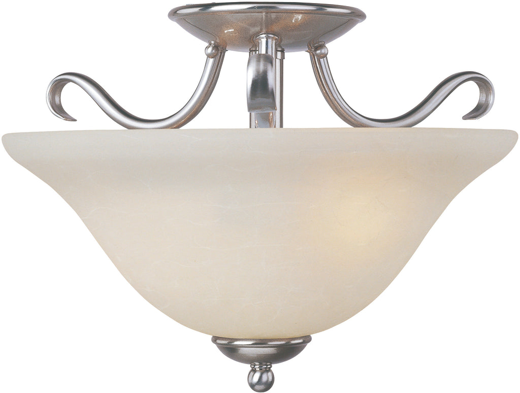 Basix EE 2-Light Semi-Flush Mount Satin Nickel - C157-85120ICSN