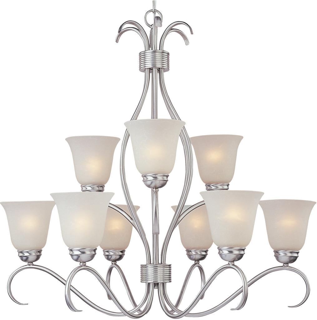 Basix EE 9-Light Chandelier Satin Nickel - C157-85128ICSN