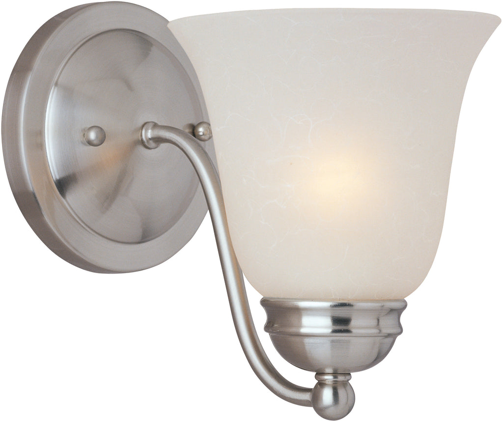 Basix EE 1-Light Wall Sconce Satin Nickel - C157-85131ICSN