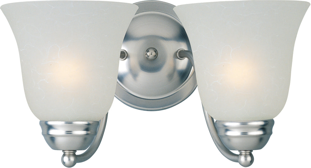 Basix EE 2-Light Bath Vanity Satin Nickel - C157-85132ICSN