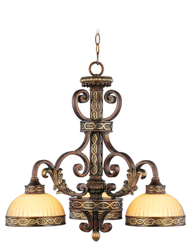 Livex Seville 3 Light PBZ Chandelier - C185-8523-64