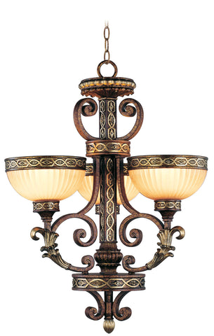 Livex Seville 3 Light PBZ Chandelier - C185-8524-64