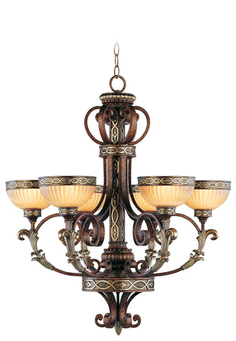 Livex Seville 6 Light PBZ Chandelier - C185-8526-64