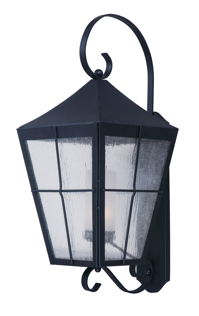 Revere 1-Light Outdoor Wall Lantern Black - C157-85331CDFTBK