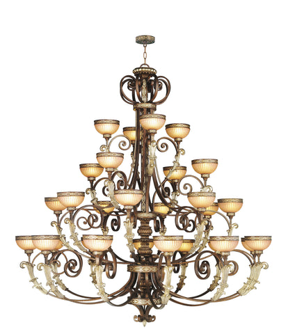 Livex Seville 32 Light PBZ Chandelier - C185-8537-64
