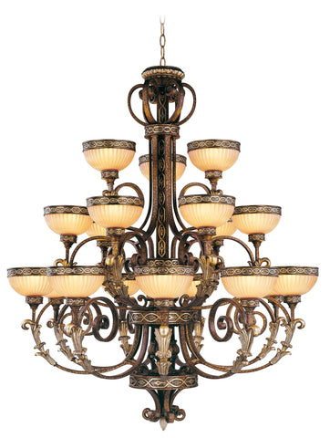 Livex Seville 18 Light PBZ Chandelier - C185-8539-64