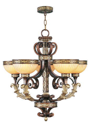 Livex Seville 5 Light PBZ Chandelier - C185-8545-64