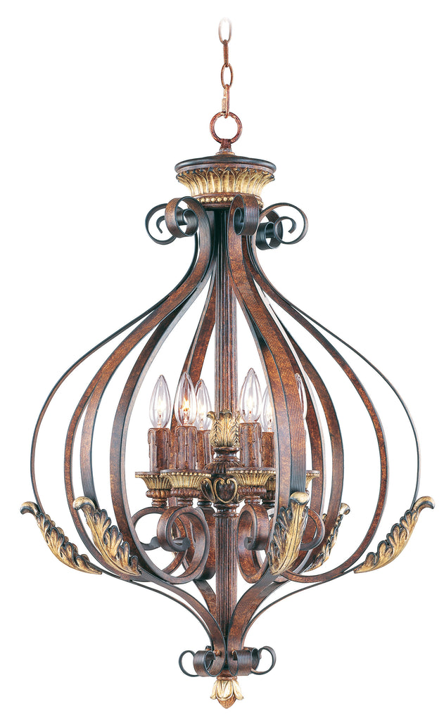 Livex Villa Verona 6 Light VBZ Foyer - C185-8557-63