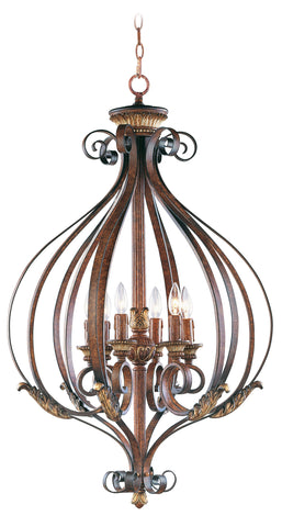 Livex Villa Verona 6 Light VBZ Foyer - C185-8558-63