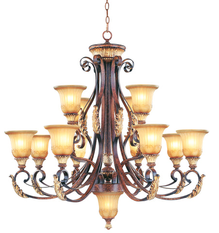 Livex Villa Verona 12 Light VBZ Chandelier - C185-8559-63