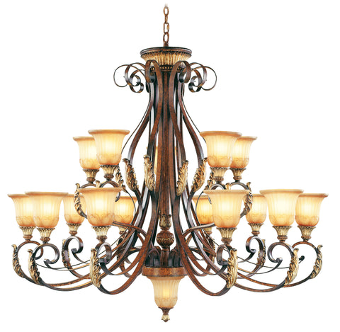 Livex Villa Verona 15 Light VBZ Chandelier - C185-8568-63