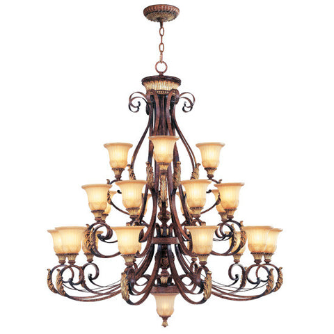 Livex Villa Verona 22 Light VBZ Chandelier - C185-8569-63