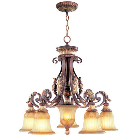 Livex Villa Verona 5 Light VBZ Chandelier - C185-8575-63
