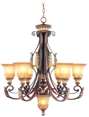 Livex Villa Verona 6 Light VBZ Chandelier - C185-8576-63