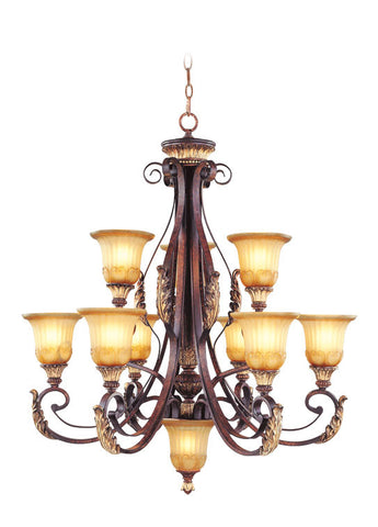Livex Villa Verona 9 Light VBZ Chandelier - C185-8579-63