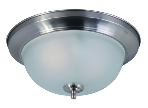 2-Light Flush Mount Satin Nickel - C157-85841FTSN