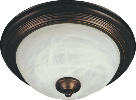 2-Light Flush Mount Oil Rubbed Bronze - C157-85841MROI