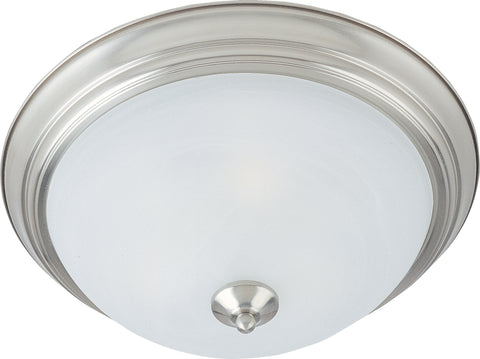 2-Light Flush Mount Satin Nickel - C157-85841MRSN