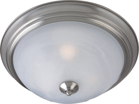 3-Light Flush Mount Satin Nickel - C157-85842MRSN