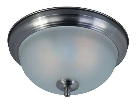 2-Light Flush Mount Satin Nickel - C157-85849FTSN