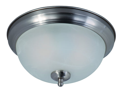 2-Light Flush Mount Satin Nickel - C157-85849MRSN