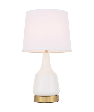 ZC121-TL3052WH - Regency Decor: Reverie 1 light White Table Lamp