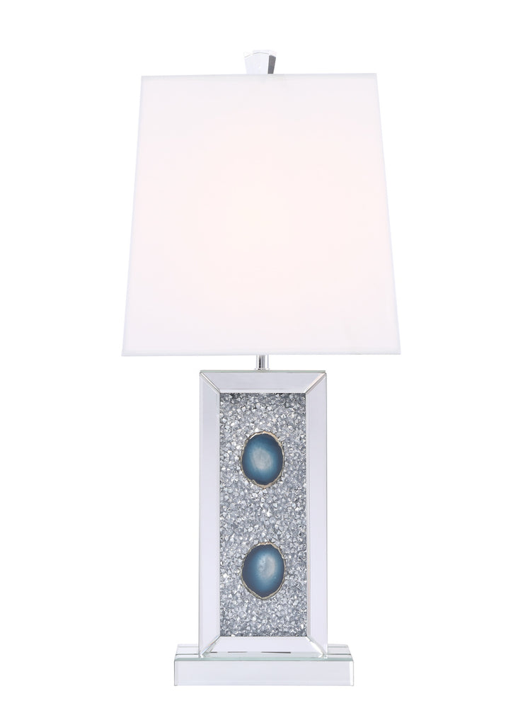 ZC121-ML9333 - Regency Decor: Sparkle Collection 1-Light Silver Crystal Table Lamp