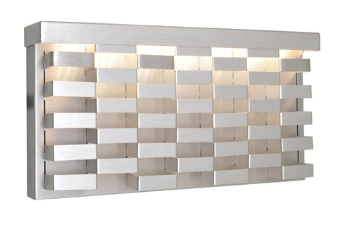Weave Outdoor Wall Sconce Brushed Aluminum - C157-88292AL
