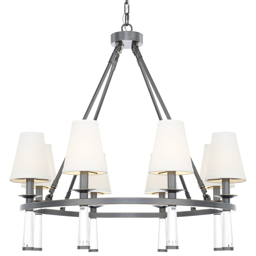 8 Light Oil Rubbed Bronze Mid Century Modern Transitional Chandelier - C193-8867-OR