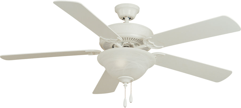 "Basic-Max 52"" Ceiling Fan White/Light Oak Blades Matte White - C157-89905MW"