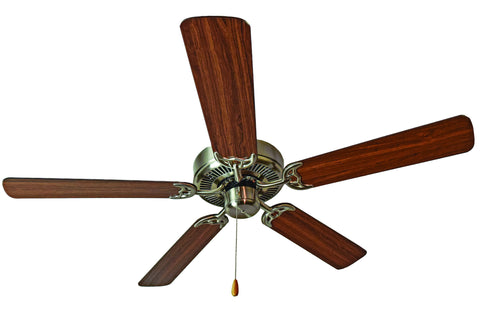"Basic-Max 52"" Ceiling Fan Walnut/Pecan Blades Satin Nickel/Walnut/Pecan - C157-89905SNWP"