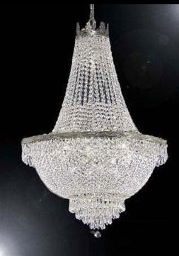 "French Empire Crystal Chandelier Lighting H30"" X W24"" - A93-Silver/870/9"