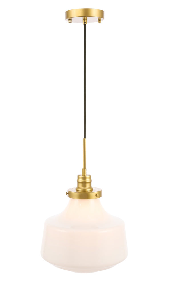 Zc121 Ld6263br Living District Lyle 1 Light Brass And Frosted White Gallery Chandeliers