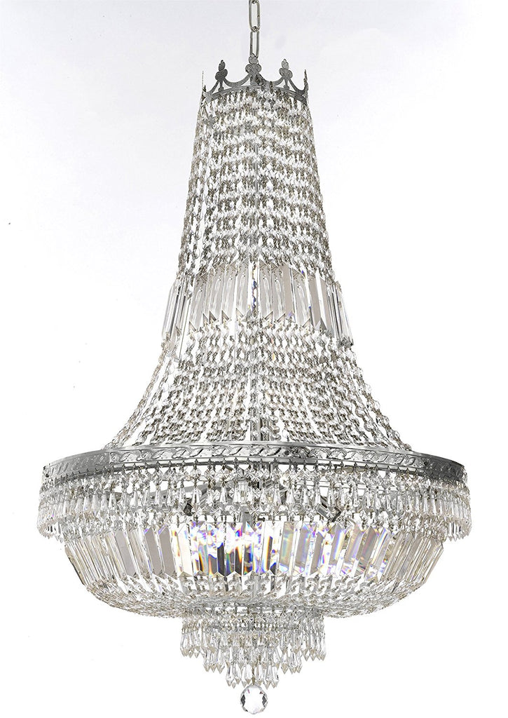"French Empire Crystal Chandelier Lighting - Great for the Dining Room, Foyer, Entry Way, Living Room H36"" XW30"" - F93-B8/CS/870/14"
