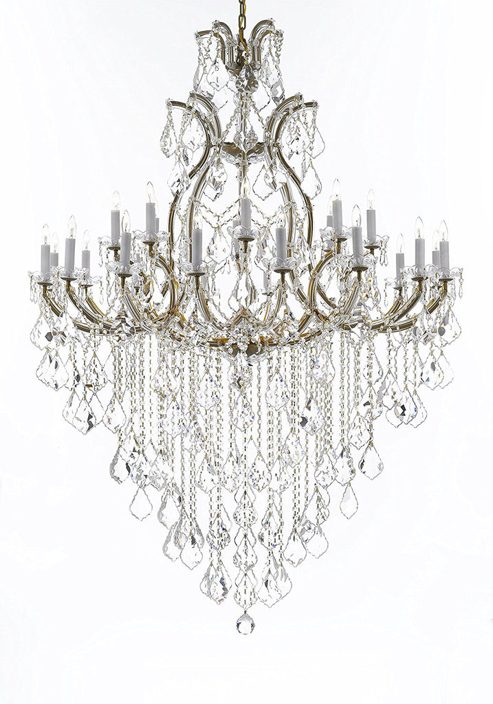 "Swarovski Crystal Trimmed Chandelier Lighting Chandeliers H65"" X W46"" Great for the Foyer, Entry Way, Living Room, Family Room and More - A83-B12/52/2MT/24+1SW"