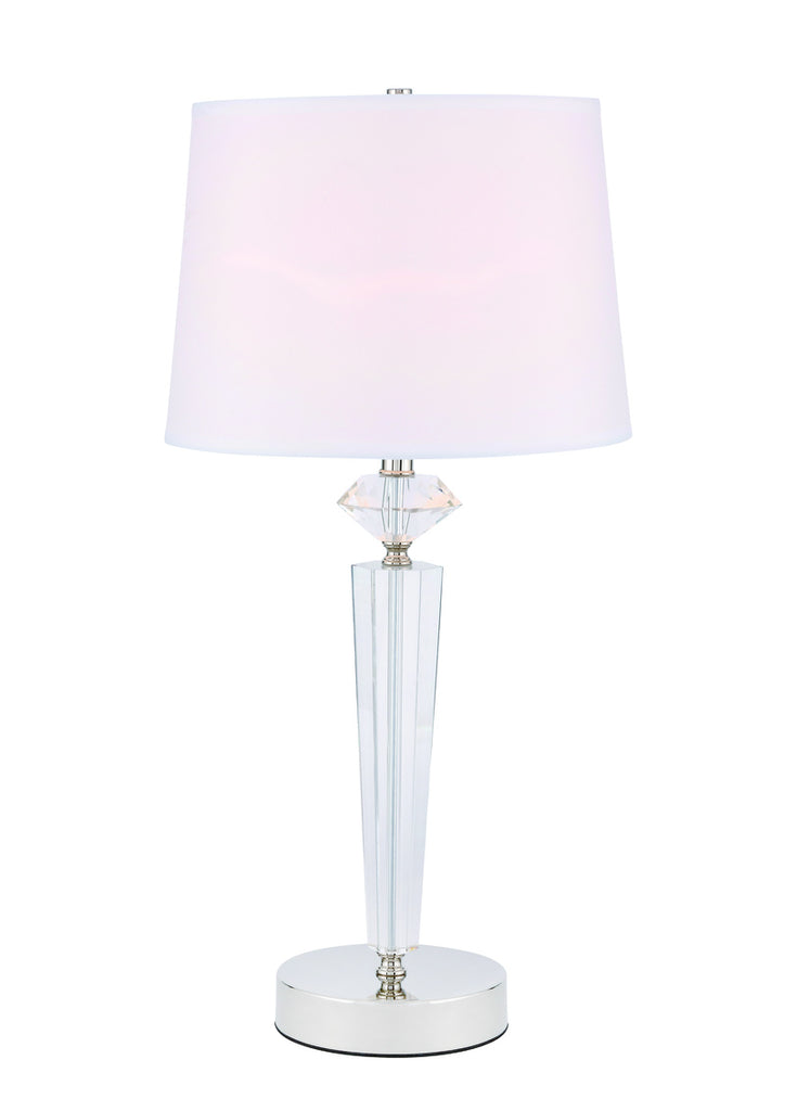 ZC121-TL3030PN - Regency Decor: Annella 1 light Polished Nickel Table Lamp